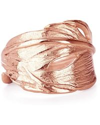 Chupi - Swan Feather Ring Rose Gold - Lyst