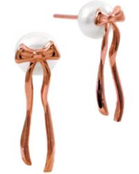 MARIE JUNE Jewelry - Presents Pearls Rose Gold Earrings - Lyst