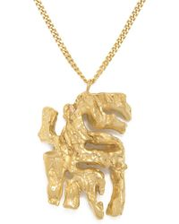 Loveness Lee - Chinese Zodiac Tiger Horoscope Gold Pendant Necklace - Lyst