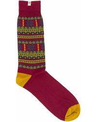 40 Colori - Red Norwegian Organic Cotton Socks - Lyst