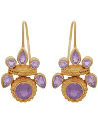 Carousel Jewels - Intricate Amethyst Heritage Earrings - Lyst