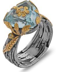Emma Chapman Jewels - Kai Blue Topaz Diamond Ring - Lyst