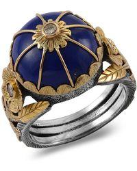 Emma Chapman Jewels - Leh Lapis Lazuli Diamond Ring - Lyst