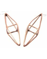 Mikinora - Octahedron Earrings Bronze - Lyst