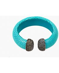 LÁTELITA London - Stingray Cuff Silver Turquoise & Aqua Blue - Lyst