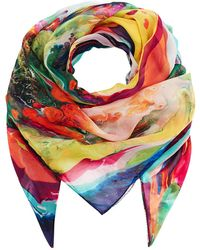 Klements - Square Scarf In Magma Print - Lyst