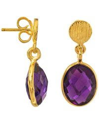 Juvi Designs - Antibes Drop Earrings With Amethyst - Lyst