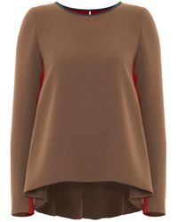 Victor Xenia London - Edita Top Brown & Red - Lyst