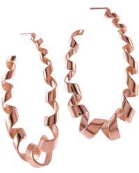 MARIE JUNE Jewelry - Loopty Loop Rose Gold Earrings - Lyst