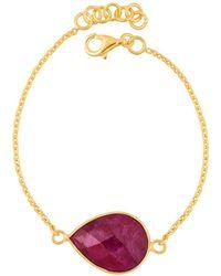 Juvi Designs - Egadi Tear Drop Bracelet With Ruby - Lyst