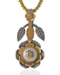 Emma Chapman Jewels - Aiko Pearl Diamond Pendant - Lyst