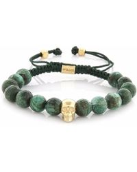 4Fellas - Smart Soul Light Green Calsedon Bracelet - Lyst