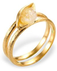 Ona Chan Jewelry - Eye Ring With Druzy Gold - Lyst