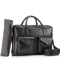 Mark Giusti - Milano Double Zip Laptop Bag Black - Lyst