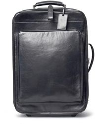Maxwell Scott Bags - Luxury Italian Leather Suitcase With Wheels Piazzale Night Black - Lyst