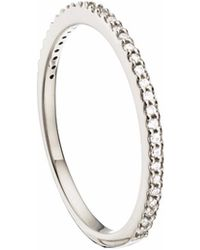Lily & Roo - Gold Diamond Style Stacking Ring - Lyst