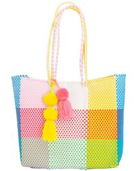 Soi 55 Lifestyle - Beatriz Shopper Tote Rainbow Check - Lyst