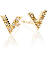 Senin - Infinity V Shaped Stud Earrings - Lyst