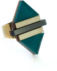 Nylon Sky - Balance Ring Frosted Green - Lyst