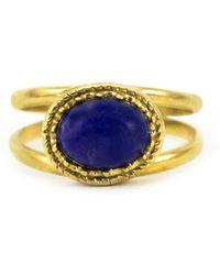 Vintouch Italy - Cordellina Lapis Ring - Lyst