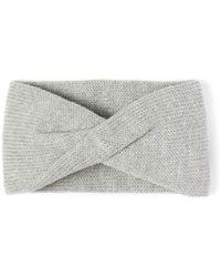 Alma Knitwear - Tula Merino Earwarmer Light Grey - Lyst