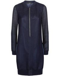 Vielma.London - Navy Mesh Bomber Dress - Lyst