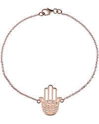 LÁTELITA London - Cosmic Hamsa Bracelet Rosegold - Lyst