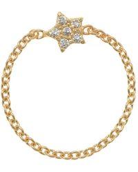 Talia Naomi | Wish Upon A Star Chain Ring | Lyst