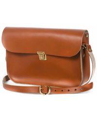 N'damus London - Tan Leather 11 Inches Mini Satchel - Lyst