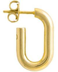 Glenda López - The Small Golden Link Earring - Lyst
