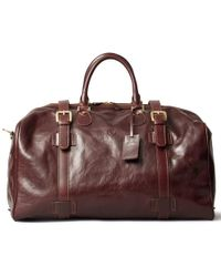 Maxwell Scott Bags | Luxury Italian Leather Large Luggage Bag Flero Dark Chocolate Brown | Lyst
