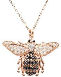 LÁTELITA London - Honey Bee Pendant Necklace Rosegold - Lyst