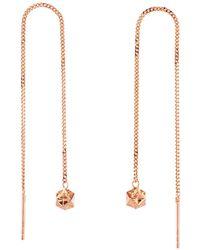 Origami Jewellery - Magic Ball Rose Gold Chain Earrings - Lyst