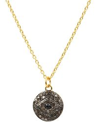 LÁTELITA London - Diamond & Sapphire Evil Eye Necklace Gold - Lyst