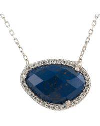 Latelita - Sofia Lapis Lazuli Gemstone Necklace Silver - Lyst