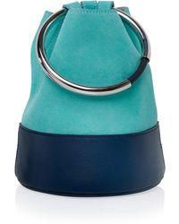 Arran Frances - Texa Aqua & Midnight Blue Bucket Bag - Lyst