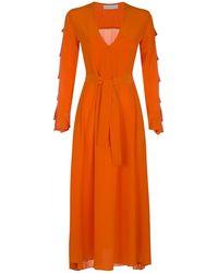 MYKKE HOFMANN - Silk Dress Kacey In Orange - Lyst