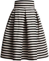 Rumour London - Amalfi Striped Midi Skirt - Lyst