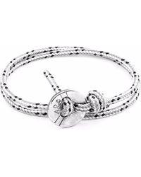 Anchor & Crew - Grey Dash Lerwick Silver & Rope Bracelet - Lyst
