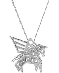 Origami Jewellery - Frame Pegasus Necklace Sterling Silver - Lyst