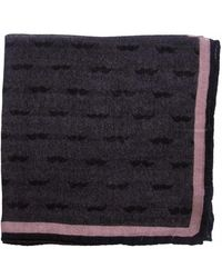 THE BLACK EARS | The Dark Moustache-pink Wool Pocket Square | Lyst