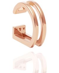 Astrid & Miyu - The Simple Wishbone Ear Cuff In Rose Gold - Lyst