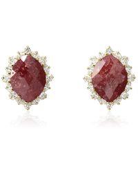 Cielle - Royal Stone Earrings Wine - Lyst