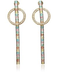 Cielle - Geometric Drop Earrings Gold - Lyst