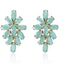 Cielle - Spring Snow Flowers Earrings Blue - Lyst
