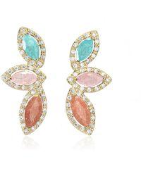 Cielle - Spring Leaves Earrings - Lyst