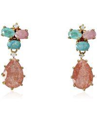 Cielle - Pastel Stone Teardrop Earrings - Lyst