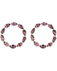 Emily Mortimer Jewellery - Wanderlust Rose Multicolour Gemstone Hoops - Lyst