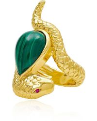 Alexandra Alberta - Arizona Malachite Ring - Lyst