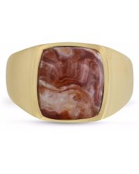 LMJ - Red Lace Agate Iconic Stone Ring - Lyst